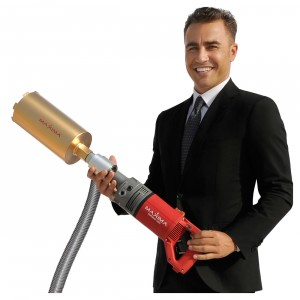 Cannavaro with drilling machine Maxima