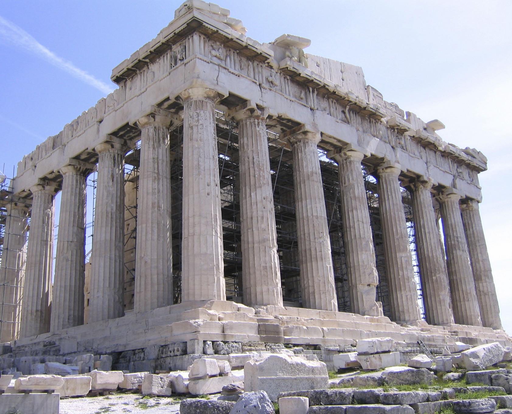 Il Partenone dell'Acropoli di Atene