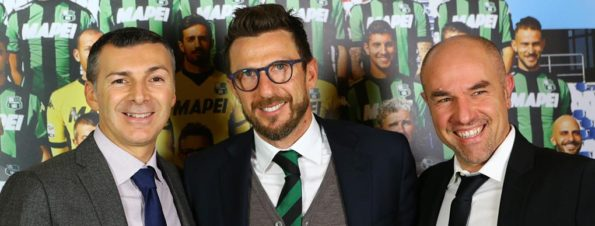 Maxima e Sassuolo Mirco Dall'Olio, Nicola Fabbi e Eusebio Di Francesco