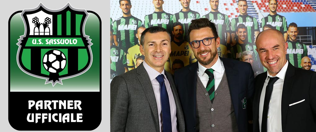 Maxima e Sassuolo. Mirco Dall'Olio, Nicola Fabbi e Eusebio di Francesco